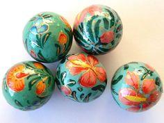 Paper mache beads, Happy Mango