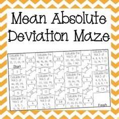 mean absolute deviation sixth grade math