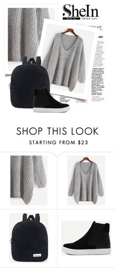 """""""OOTD - Gray Sweater"""" by by-jwp ❤ liked on Polyvore"""