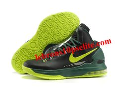 new concept 9ea9c 935fe Nike Zoom KD V Shoes Black Green Yellow