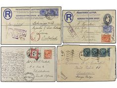 AFRICA DEL SUR: INGLESA. 1896-1945. Lot of 12 covers and cards.  Dealer SOLER Y LLACH  Auction Minimum Bid: 200.00EUR