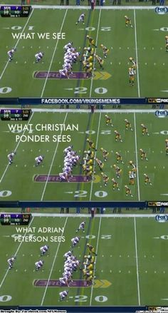 Adrian Peterson has confidence and Christian Pounder doesn't