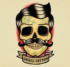 old school tattoo art mustache - ค้นหาด้วย Google