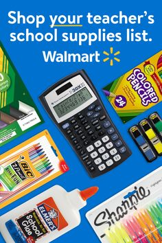 Conquer that teacher's #schoolsupplieslist in one click and get ready to rule the school year! From pens and pencils to notebooks, backpacks and so much more - find all their back to school essentials at Walmart.com/mysupplies.