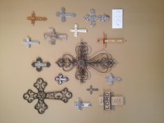 One day...I'll have a wall of crosses like my Nana :)