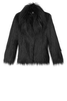 Stella McCartney faux fur coat, $1,995, shopBAZAAR.com.   - HarpersBAZAAR.com