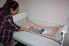 Crescent Womb Newborn Crib Hammock - Newborn safety bed - reduces risk of sids