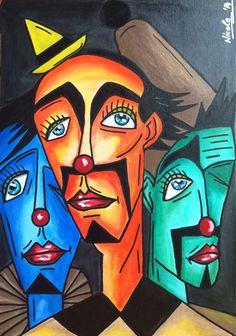 """The statesmen"" acrylic on canvas - Art Painting Cubist Portraits, Portrait Art, Hippie Painting, Picasso Paintings, Bright Art, Acrylic Artwork, Canvas Art, Acrylic Canvas, Mandala Drawing"