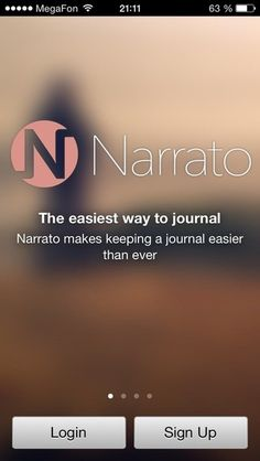 Narrato Journal #ios7 #flatui #clearui