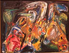 Asger Jorn, Beloved Animals in the Night, 1967-68.  CoBrA Group