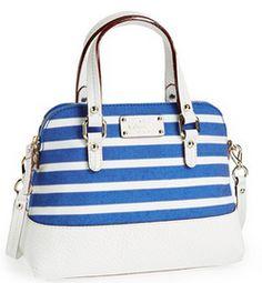 Pretty striped #katespade satchel http://rstyle.me/n/iu32znyg6