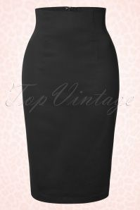 50s Falda Pencil Skirt in Black