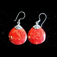 Ball Drops Coral Earrings - Out Of Stock | Spiritual Style