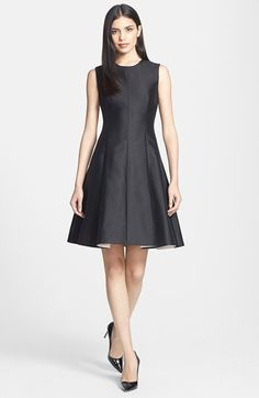 kate spade new york 'emma' silk blend fit & flare dress available at #Nordstrom