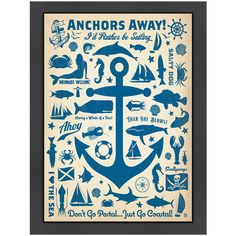 Anchors Away Framed Print - Anchors Away on Joss and Main