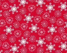 """Patchworkstoff """"Nordic Holiday"""" mit Weihnachtssternen, rot-weiß"""