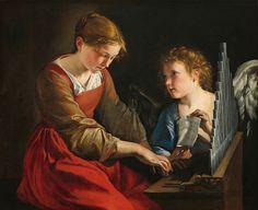 """El Museo de Alberto: """"Saint Cecilia and an Angel"""""""