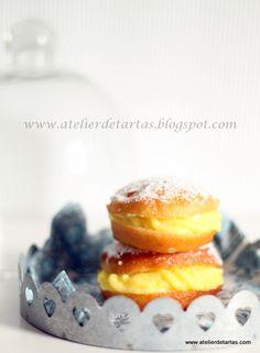 Berlinesas rellenas de crema pastelera de vainilla de Madagascar  Donuts filled with Vanilla Boston Cream