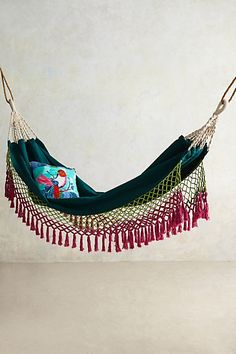 Canyon Fringe Hammock #anthropologie