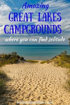 Looking for Great Lakes Camping where you can find solitude and avoid the crowds? Check out these fabulous Great Lakes campgrounds! Camping with family and friends for a hike Lake Camping, Camping Spots, Camping And Hiking, Camping Life, Family Camping, Winter Camping, Tent Camping, Outdoor Camping, Backpacking