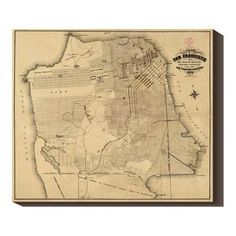 San Francisco 1873 40x34 Map now featured on Fab.