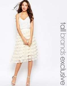 Image 1 of True Decadence Tall 3D Applique Tulle Prom Skirt