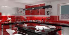cocina con BALDOSAS ROJAS - Buscar con Google