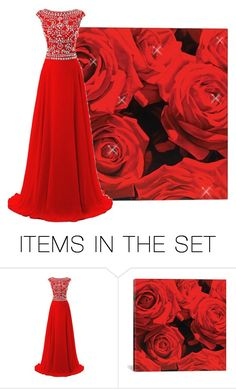 """""""One on One Red"""" by jeannierose ❤ liked on Polyvore featuring art"""