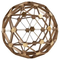 "12"" Geodesic Orb, Gold   Easy Elegance   One Kings Lane"