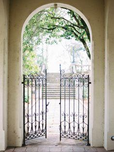 Shannon Leahy Events - Carnival Inspired Wedding - San Rafael - Church - Arched Walkway - Gate