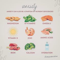 """Holistic Hormone Nutrition on Instagram: """"REMEMBER: ANXIETY CAN ALSO BE A SYMPTOM OF A NUTRIENT DEFICIENCY✨ - Anxiety is those feelings of fear, worry, or unease. - Anxiety is like…"""" Holistic Medicine, Holistic Wellness, Holistic Nutrition, Natural Medicine, Health And Nutrition, Health And Wellness, Wellness Tips, Foods For Anxiety, Supplements For Anxiety"""