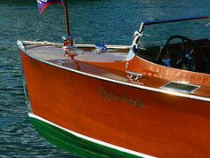 Chris Craft Boats Art - 1940s Chris Craft Sportsman boat  by David Lee Thompson