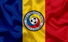 Download wallpapers Romania national football team, emblem, logo, football federation, flag, Europe, flag of Romania, football, World Cup