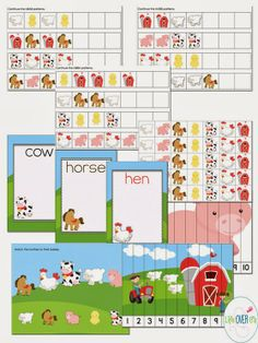 Interactive Farm Scenery for Play Dough bonus FREE Puzzles