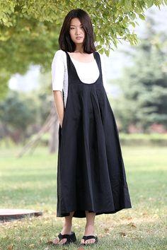 Romantic Black Vest Bud Long Maxi Dress-CF008 by YL1dress on Etsy
