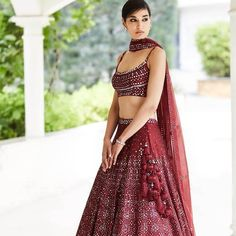 These Bridal Colors 2020 Will Make Your Look Even More Appealing And Stunning. For more such bridal information, stay tuned with shaadiwish. Raw Silk Lehenga, Blue Lehenga, Designer Bridal Lehenga, Bridal Lehenga Choli, Lehnga Dress, Indian Bridal Outfits, Indian Dresses, Indian Clothes, Wedding Outfits