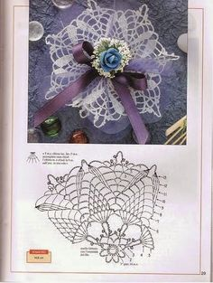 World crochet: Decoration 20 Crochet Buttons, Crochet Motif, Crochet Doilies, Hand Crochet, Crochet Stitches, Crochet Patterns, Sachet Bags, Photo Pattern, Crochet Tablecloth