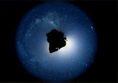 """star  """"My Star""""  by Mitsunori Yuasa 兵庫県   作品サイズ: A3  使用プリンター: Canon PIXUS Pro9000 MarkII  使用用紙: エプソン「写真用紙クリスピア<高光沢>」  使用カメラ: Canon EOS 7D    高原での360度パノラマを極座標変換にて惑星化したものです。全て本物の星空です。高原には山があるので惑星化すると地面が小惑星のように凸凹になります。小惑星に乗って宇宙を旅するイメージで作成しました。"""