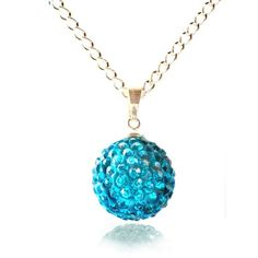 Fizzball Collection Lemonade Crystal Ball Necklace Turquoise - 4EverBling