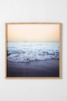 Happy place.   Leah Flores For DENY Crash Into Me Framed Wall Art urban outfitters