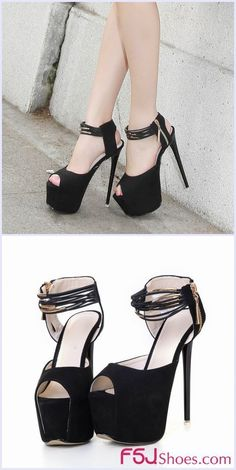 5ae096af337b Women s Style Sandal Shoes Fall Outfits 2017 Edgy Wedding Dresses Shoes  Women s Lelia Black Suede Peep Toe Stiletto Heels Platform Ankle Strap  Sandals with ...