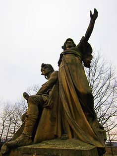 Libuse and Premysl statue in Vysehrad