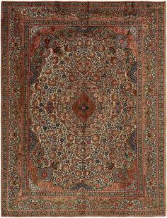 Ivory Tabriz Area Rug