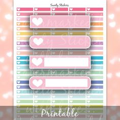 Planner Stickers Appointment Heart Printables ღ by SweetyStickers