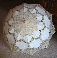 parasol with gold! love.
