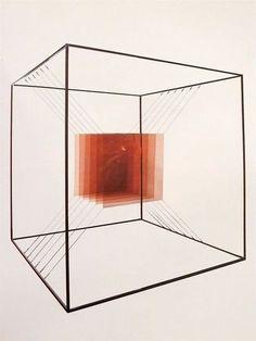 lafilleblanc: Piotr Kowalski Cube no. Cube Design, Design Art, Art Cube, Reception Desk Design, Sensory Art, Showroom Design, Hanging Mobile, A Level Art, Creative Thinking