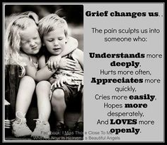 Grief changes us <3  GRIEF SHARE:  Plantation United Methodist Church, 1001 NW 70 Avenue, Plantation, FL  33313.  (954) 584-7500.
