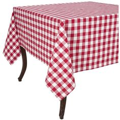 Hemstitched Tablecloth Burgundy ($38) ❤ Liked On Polyvore Featuring Home,  Kitchen U0026 Dining, Table Linens, Red, Red Table Cloth, Red Tablecloth, Hemu2026
