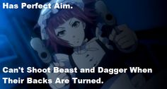 Mey rin has perfect aim can t shoot dagger and beast when their