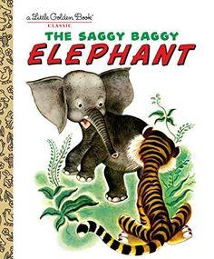 Little Elephant, Elephant Book, Little Golden Books, Little Puppies, Vintage Children's Books, Vintage Items, Vintage Kids, Vintage Stuff, Vintage Prints
